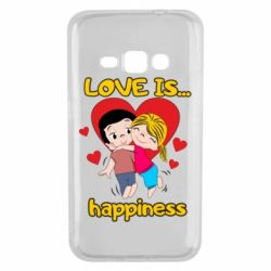 Чохол для Samsung J1 2016 love is...happyness