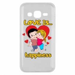 Чохол для Samsung J2 2015 love is...happyness
