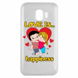 Чохол для Samsung J2 2018 love is...happyness