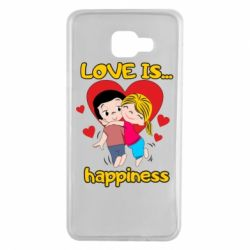 Чохол для Samsung A7 2016 love is...happyness