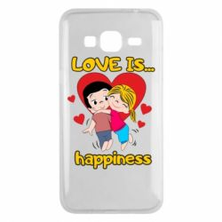 Чохол для Samsung J3 2016 love is...happyness