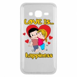 Чохол для Samsung J5 2015 love is...happyness