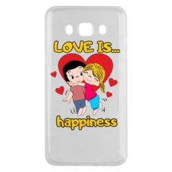 Чохол для Samsung J5 2016 love is...happyness