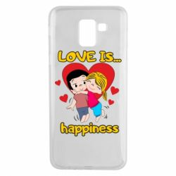 Чохол для Samsung J6 love is...happyness