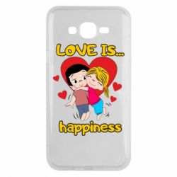 Чохол для Samsung J7 2015 love is...happyness