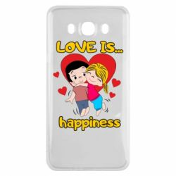 Чохол для Samsung J7 2016 love is...happyness