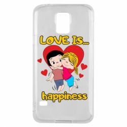 Чохол для Samsung S5 love is...happyness