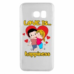 Чохол для Samsung S6 EDGE love is...happyness