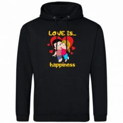 Чоловіча толстовка love is...happyness