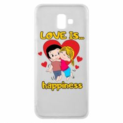 Чохол для Samsung J6 Plus 2018 love is...happyness