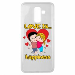 Чохол для Samsung J8 2018 love is...happyness