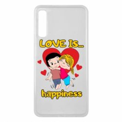 Чохол для Samsung A7 2018 love is...happyness