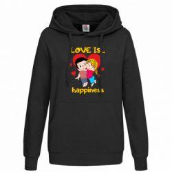 Толстовка жіноча love is...happyness