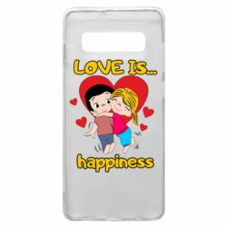 Чохол для Samsung S10+ love is...happyness