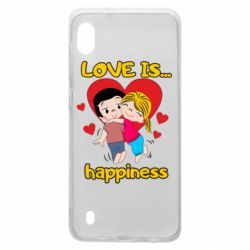 Чохол для Samsung A10 love is...happyness