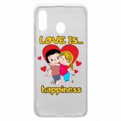 Чохол для Samsung A20 love is...happyness