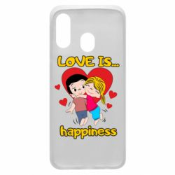 Чохол для Samsung A40 love is...happyness