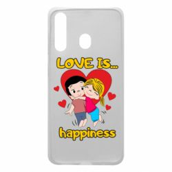 Чохол для Samsung A60 love is...happyness