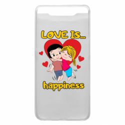 Чохол для Samsung A80 love is...happyness