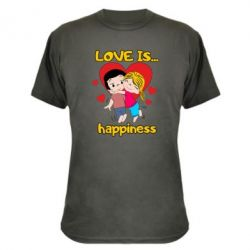 Камуфляжна футболка love is...happyness