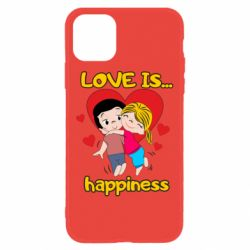 Чохол для iPhone 11 love is...happyness