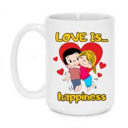 Кружка 420ml love is...happyness