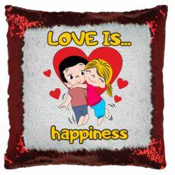 Подушка-хамелеон love is...happyness
