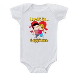 Дитячий бодік love is...happyness