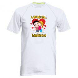 Чоловіча спортивна футболка love is...happyness