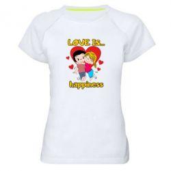 Жіноча спортивна футболка love is...happyness
