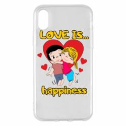 Чохол для iPhone X/Xs love is...happyness