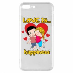 Чохол для iPhone 8 Plus love is...happyness