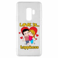 Чохол для Samsung S9+ love is...happyness