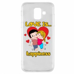 Чохол для Samsung A6 2018 love is...happyness