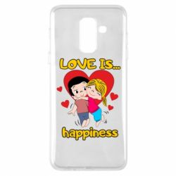 Чохол для Samsung A6+ 2018 love is...happyness