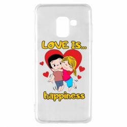 Чохол для Samsung A8 2018 love is...happyness