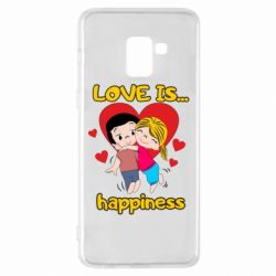 Чохол для Samsung A8+ 2018 love is...happyness