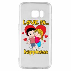 Чохол для Samsung S7 love is...happyness