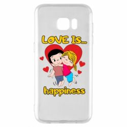 Чохол для Samsung S7 EDGE love is...happyness