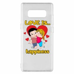 Чохол для Samsung Note 8 love is...happyness