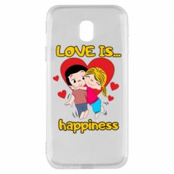 Чохол для Samsung J3 2017 love is...happyness