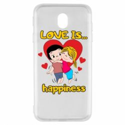 Чохол для Samsung J7 2017 love is...happyness