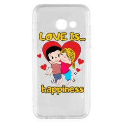 Чохол для Samsung A3 2017 love is...happyness