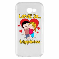 Чохол для Samsung A7 2017 love is...happyness