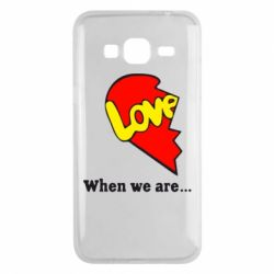 Чехол для Samsung J3 2016 Love Is...When we are