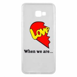 Чехол для Samsung J4 Plus 2018 Love Is...When we are