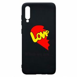 Чехол для Samsung A70 Love Is...When we are