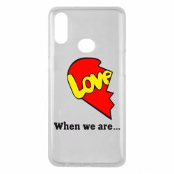 Чехол для Samsung A10s Love Is...When we are