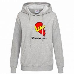 Женская толстовка Love Is...When we are