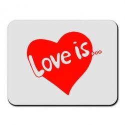 Коврик для мыши Love is... - FatLine
